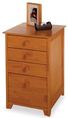 "File Cart with Office Storage Drawers - Wood (Honey) (29""H x18.75""W x 20""D) - Harvey & Haley"