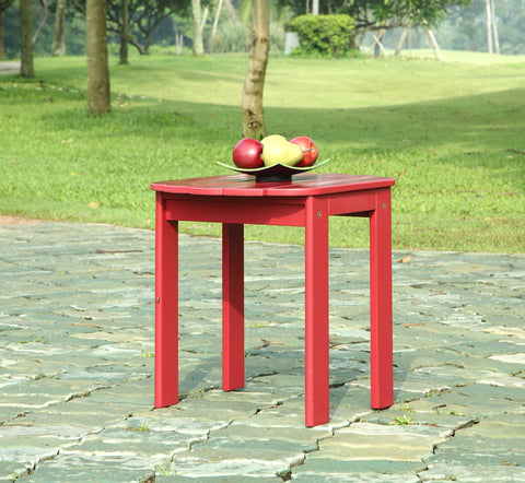 Linon Red Adirondack End Table - Harvey & Haley  - 1