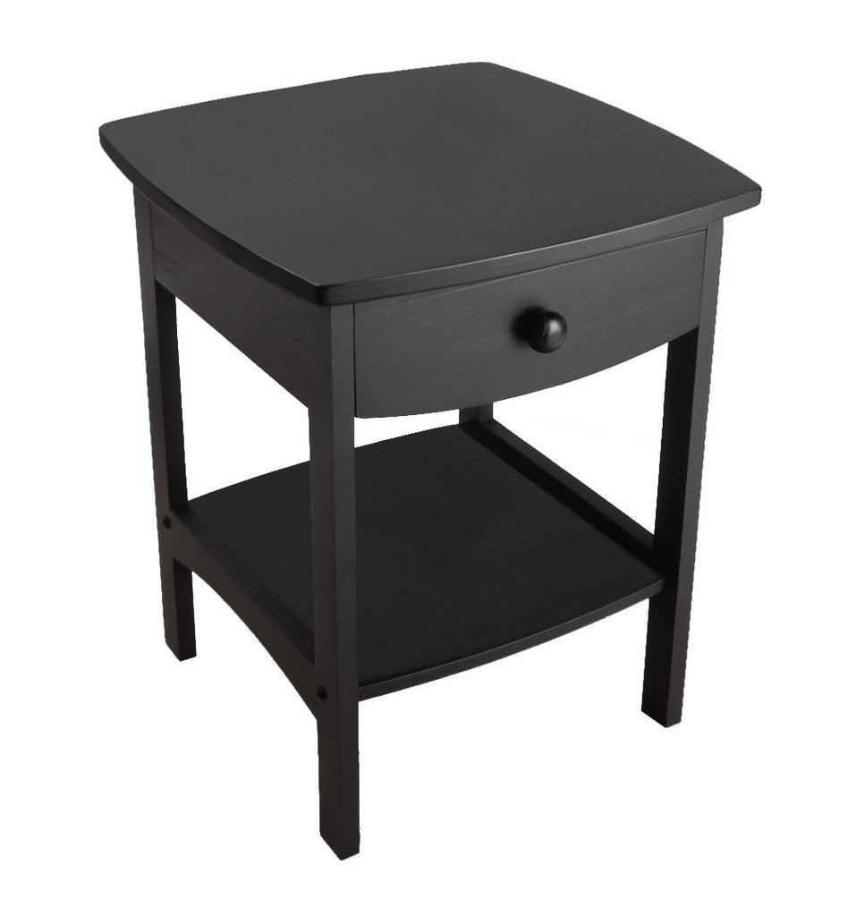 Curved End / Night Table With Drawers - Harvey & Haley
