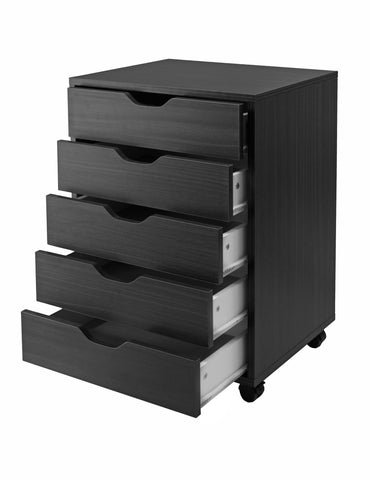 Halifax Cabinet For Closet / Office, 5 Drawers, Black - Harvey & Haley
