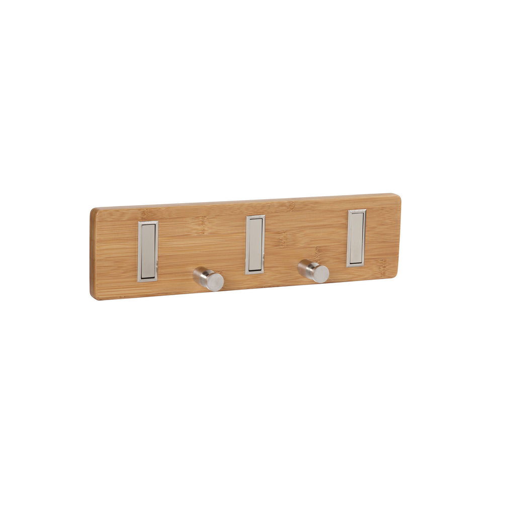 Household Essentials 2257-1 Bamboo 5-hook Key Holder Wall Coat Rack - Harvey & Haley  - 1