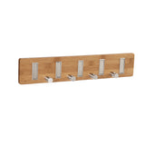 Household Essentials 2258-1 Bamboo 9-hook Key Holder Wall Coat Rack