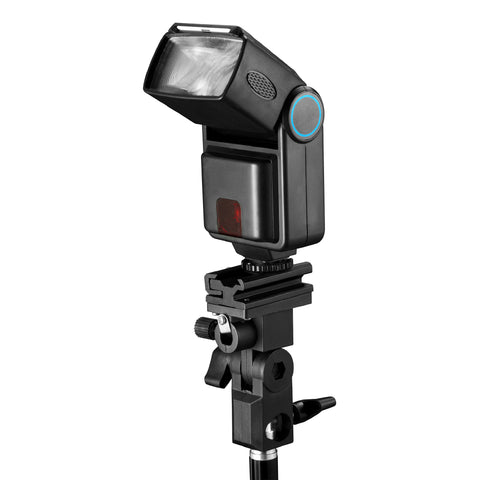 Square Perfect Twist-N-Swivel Flash Bracket Adjustable Flash & Umbrella Mount - Harvey & Haley