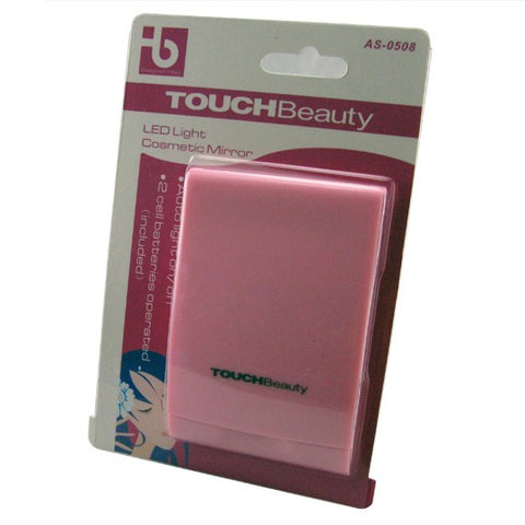 Compact Mirror with LED Light-Color Pink