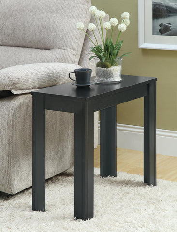 Monarch Specialties Black Oak Accent Side Table - Harvey & Haley