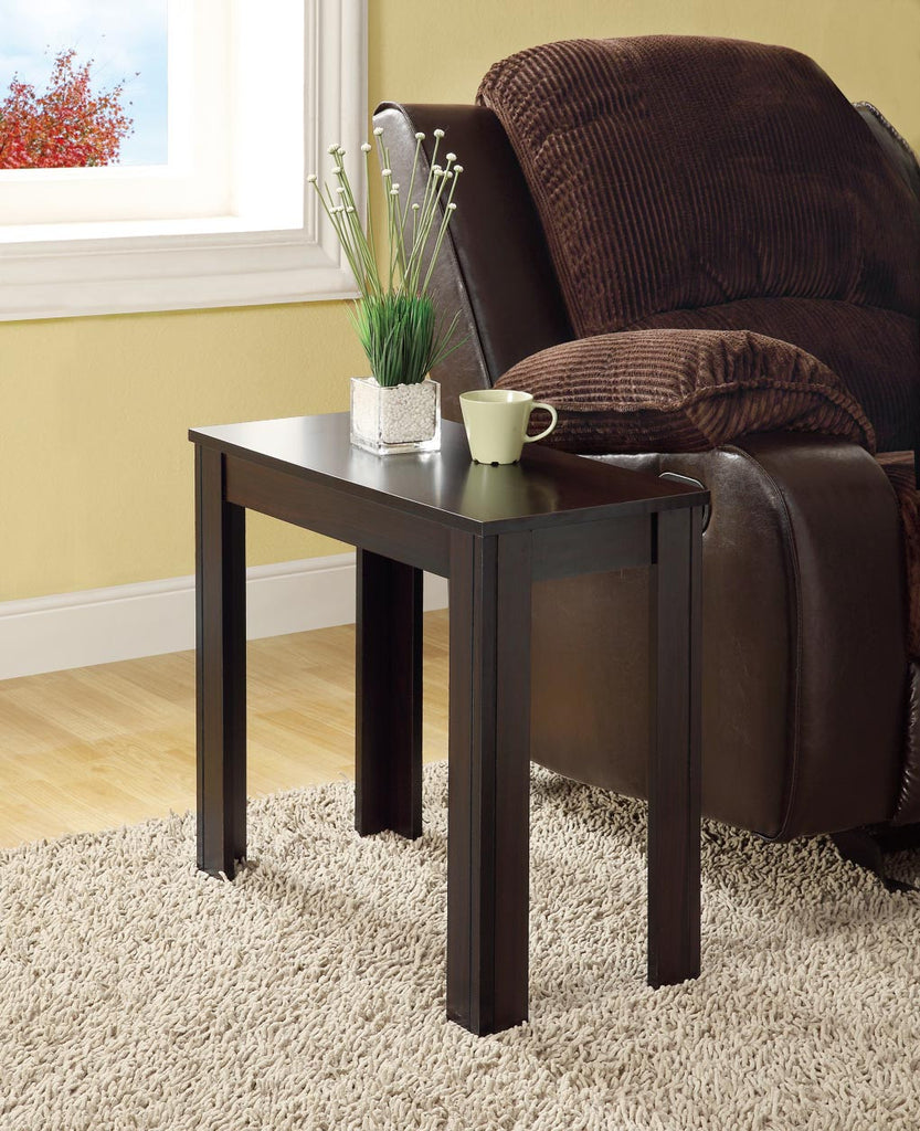 Monarch Specialties Cappuccino Finish Accent Side Table - Harvey & Haley