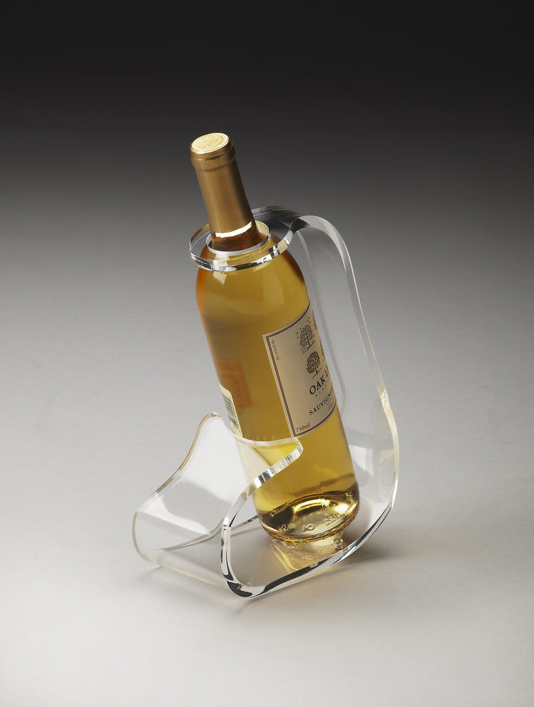 Crystal Clear Wine Bottle Stand Hors D'Oeuvres - 3266016 - Harvey & Haley