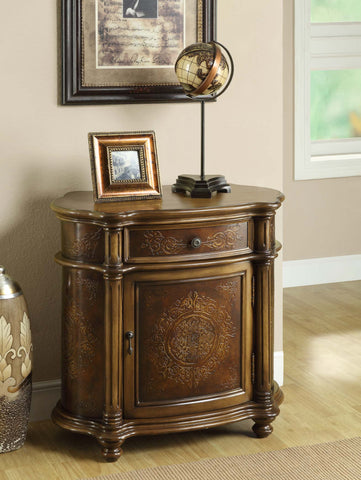 Monarch Specialties Traditional 1-Drawer Bombay Cabinet, Light Brown - Harvey & Haley
