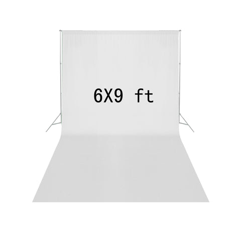 Square Perfect 6' X 9' Economy White Backdrop Muslin For Photography - Harvey & Haley