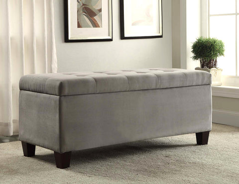 Linon Carmen Shoe Storage Ottoman - Harvey & Haley  - 1
