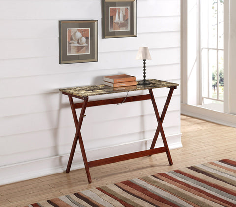 Linon Faux Tile Top Folding Buffet Tray Table - Harvey & Haley  - 1