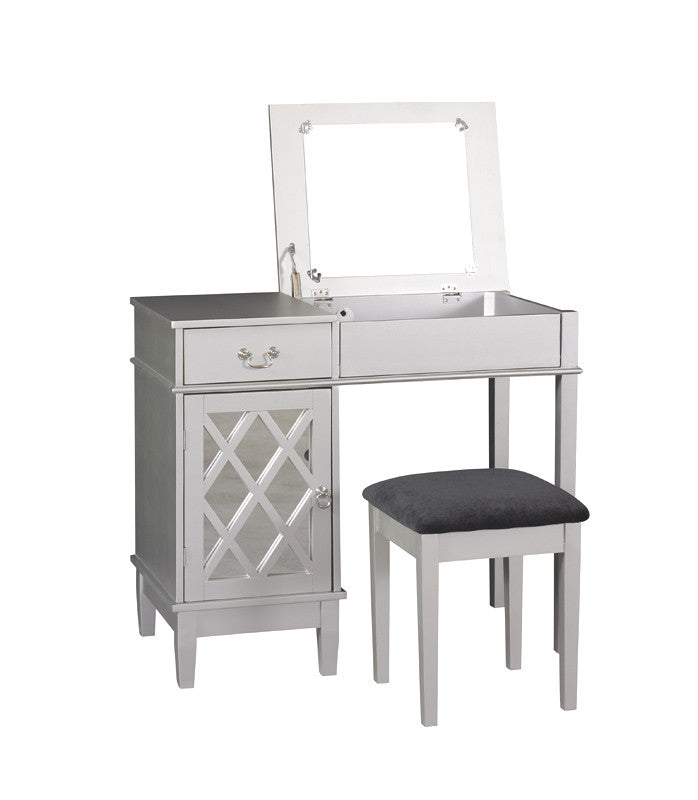 Linon Lattice Vanity Set - Harvey & Haley