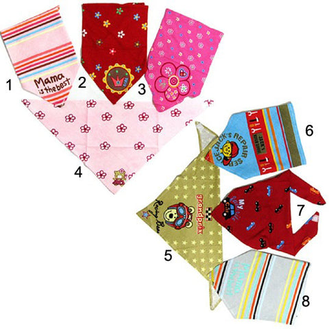 Colorful Fashionable Pet Bandana-Option 7