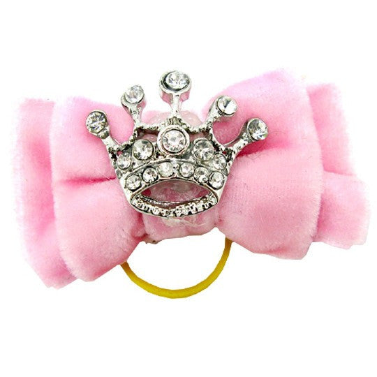 Pink Bow with Crown