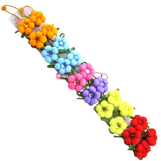 Flower Hair Band for Pets-Color Lime Green