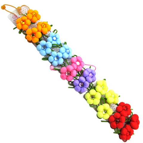 Flower Hair Band for Pets-Color Red