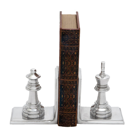 Metal Bookend Pair with Broad Stable Base - Harvey & Haley