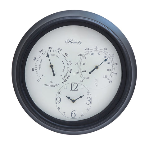 Harvey & Haley Outdoor Clock Detailed with Bold Numerals in Black Font - Harvey & Haley