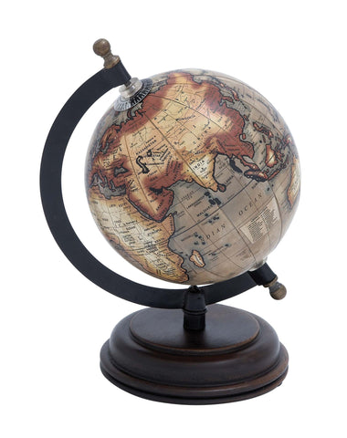 Metal Wooden Globe with Distinctive Pattern - Harvey & Haley
