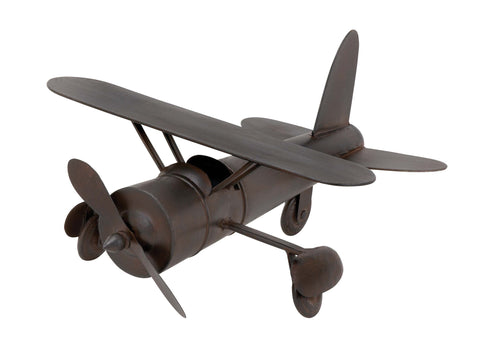 Plane in Rich Chocolate Color Finish with Easy Mobility - Harvey & Haley
