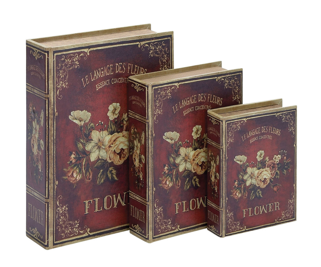 Book Box in Flaunts Delicate Floral Patterns - Set of 3 - Harvey & Haley