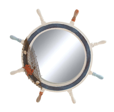Ship Wheel Mirror with Highly inspiring Decorative Design - Harvey & Haley
