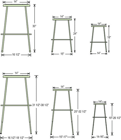 Height Adjustable Legs - Harvey & Haley