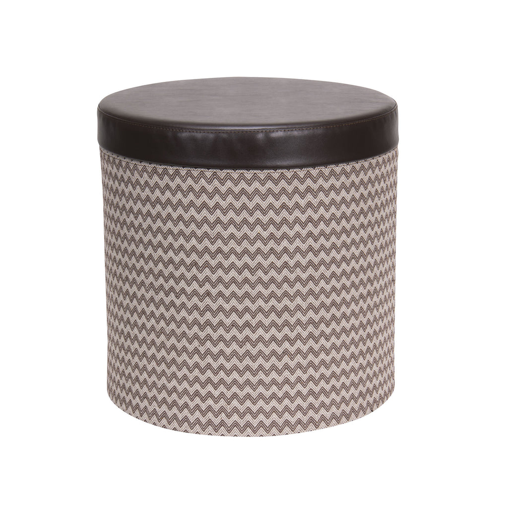 Household Essentials® Round Storage Ottoman With Padded Seat