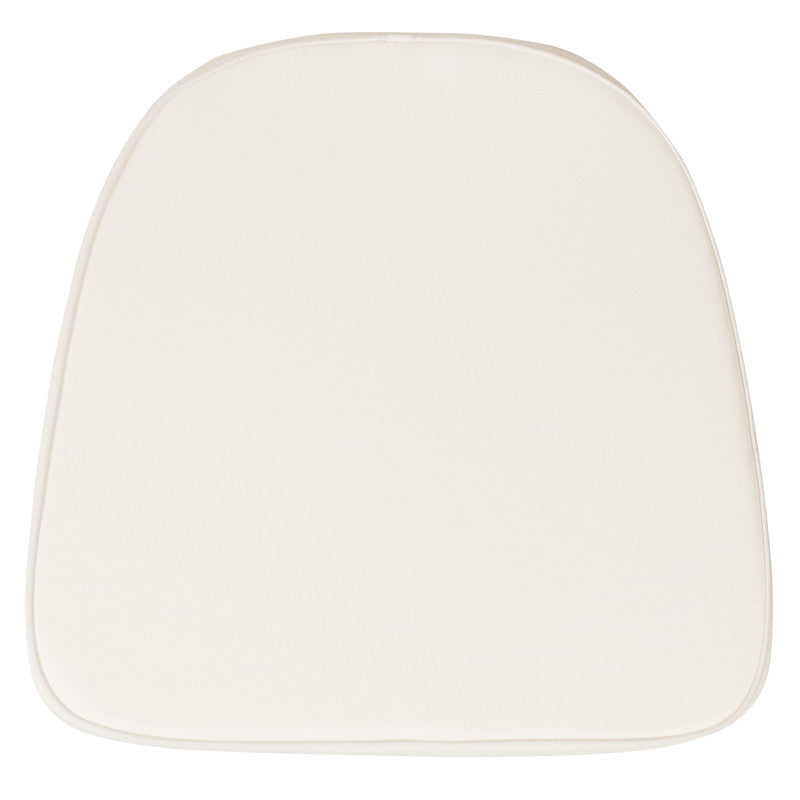 Soft Ivory Fabric Chiavari Chair Cushion - Harvey & Haley