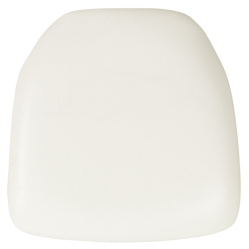 Hard White Vinyl Chiavari Chair Cushion - Harvey & Haley