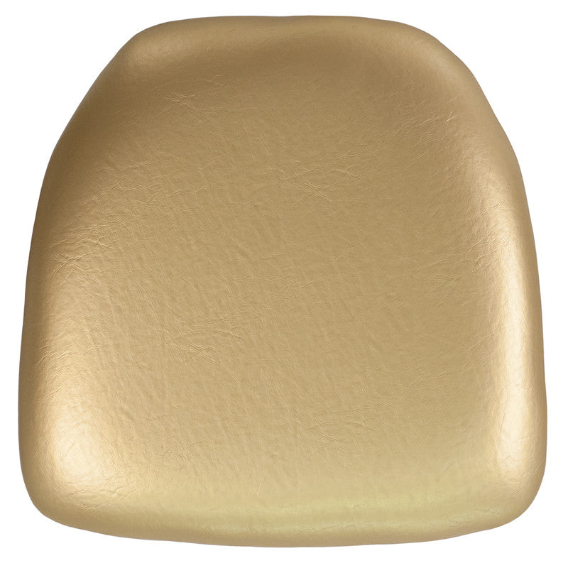 Hard Gold Vinyl Chiavari Chair Cushion - Harvey & Haley