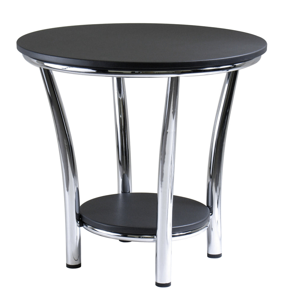 winsome maya end table black