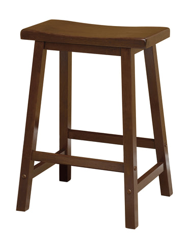 Winsome Saddle Seat 24-Inch Counter Stool, Walnut - Harvey & Haley
