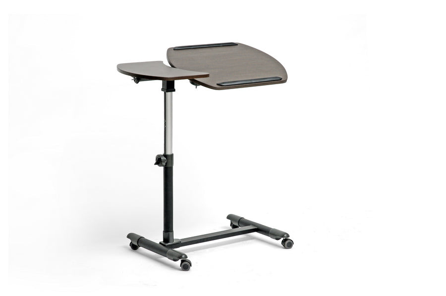 Baxton Studio Olsen Brown Wheeled Laptop Tray Table with Tilt Control Set of 1