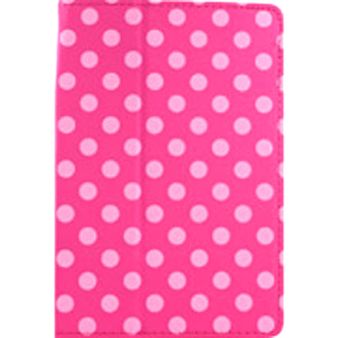 Accellorize 16132 Pink Dot iPad Mini Case Flips Open & Close - Harvey & Haley
