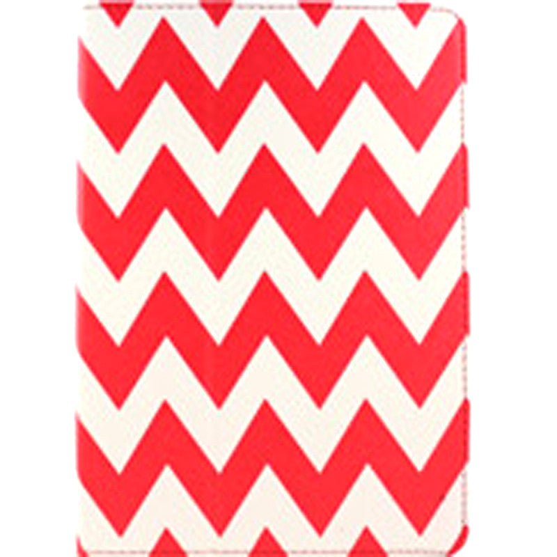 Accellorize 16136 Red Chevron iPad 2 3 and 4 Case Flips Open - Harvey & Haley