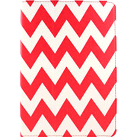 Accellorize 16151 Red Chevron iPad Air Case Flips Open & Close Closes - Harvey & Haley