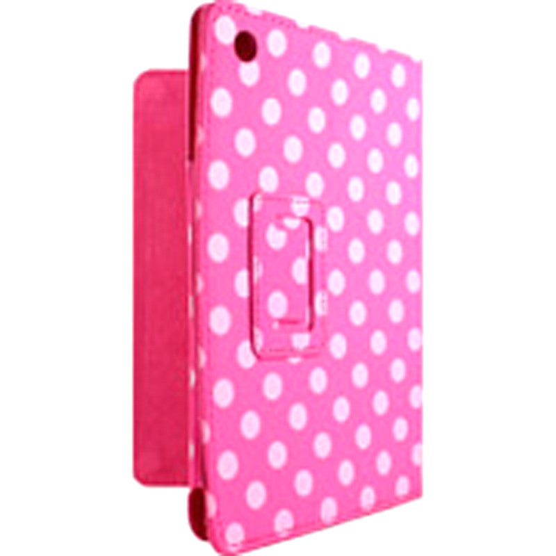 Accellorize 16154 Pink Dot iPad Air Case Flips Open & Closes - Harvey & Haley