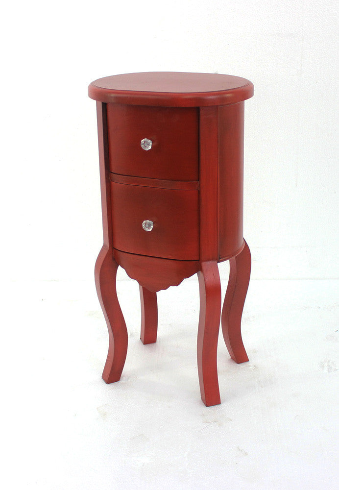Teton Home Red Wooden Cabinet - Harvey & Haley
