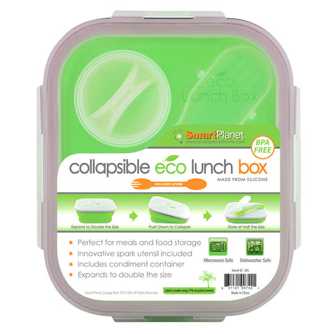 Smart Planet EC34SG Green Meal Kit Small Collapsible 32 oz. - Harvey & Haley