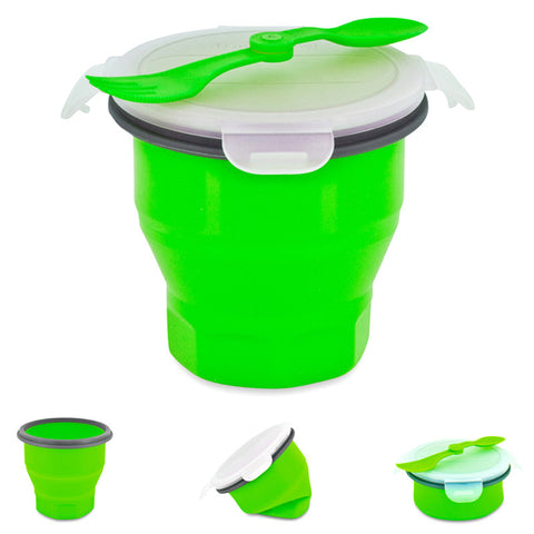 Smart Planet EC34SSBG Green Collapsible Soup and Salad Bowl - Harvey & Haley