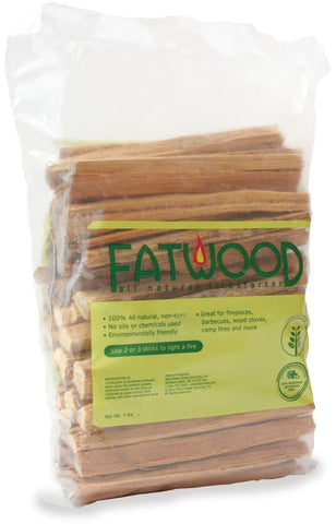4 Pounds Fatwood In Poly Bag - Harvey & Haley
