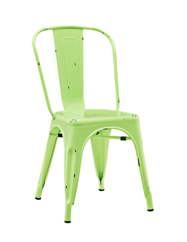 Metal Café Chair - Spring Green - Harvey & Haley  - 1