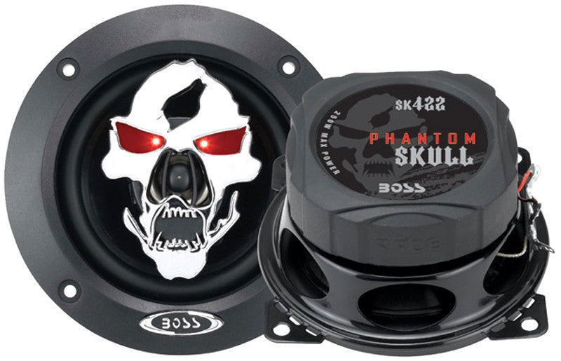 Boss SK422 Black Phantom Skull 4In 2Way Injection Cone Custom - Harvey & Haley