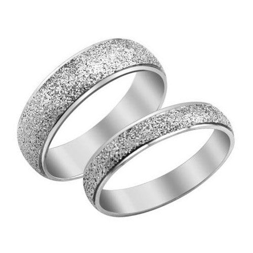 Matting ring Titanium steel couple rings -one for men only-Size 7 - Harvey & Haley  - 1