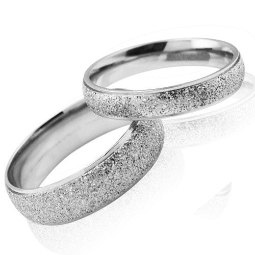 Matting ring Titanium steel couple rings -one for women only-Size 8 - Harvey & Haley  - 1