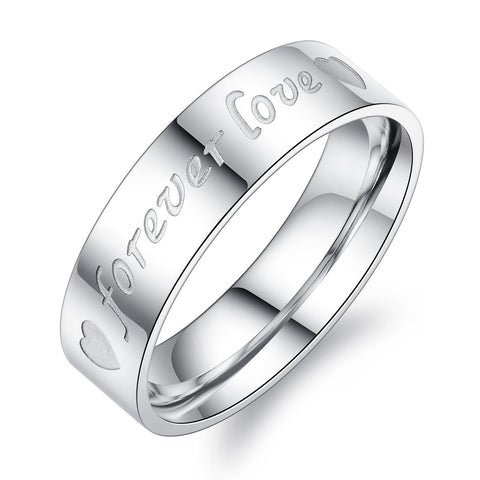 Korean ring Titanium steel couple rings -one for men only-Size 8 - Harvey & Haley  - 1