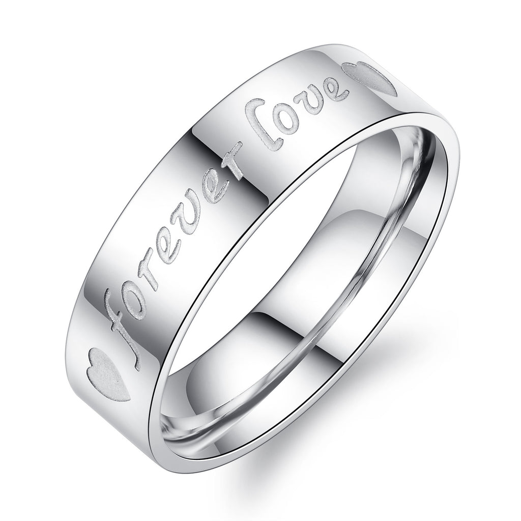 Korean ring Titanium steel couple rings -one for men only-Size 7 - Harvey & Haley  - 1