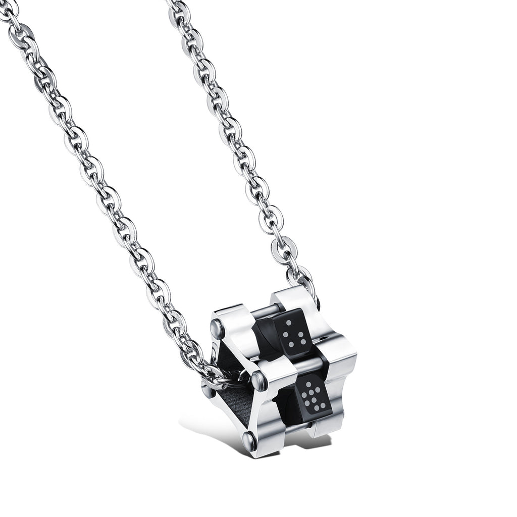 Square pendant Couple magic cube rotating titanium steel combined decorations for man only - Harvey & Haley  - 1