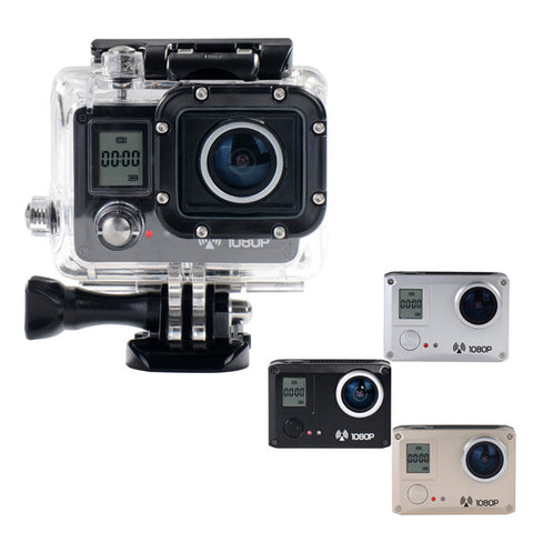 AMKOV AMK5000S 20MP 1080P Wifi Action Sports Ceamra Waterpro-Color Silver